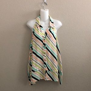 Anthropologie Maeve striped sleeveless  blouse top